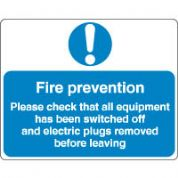 Mandatory Safety Sign - Fire Prevention 062